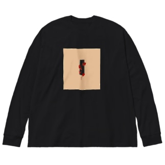 ハライソ Big silhouette long sleeve T-shirts