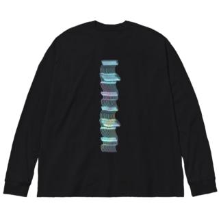 アセチレンの灯 Big silhouette long sleeve T-shirts
