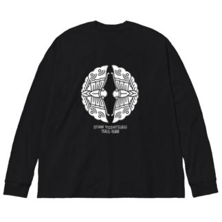 大谷吉継【対い蝶/生誕死没】 Big silhouette long sleeve T-shirts