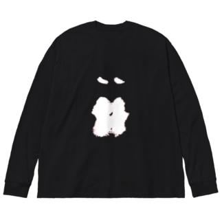 Kissビッグ Big silhouette long sleeve T-shirts