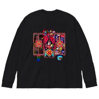日々福 Big silhouette long sleeve T-shirts
