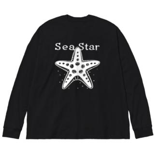 片面印刷*CT138 ひとでなしC Big silhouette long sleeve T-shirts