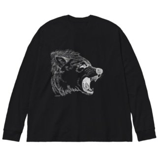 Don't touch me! Big silhouette long sleeve T-shirts