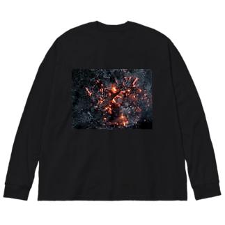 もえる服(横) Big silhouette long sleeve T-shirts