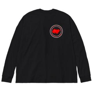 YOKOHAMA KANAZAWA FANTASTIC TOWN(黒) Big silhouette long sleeve T-shirts
