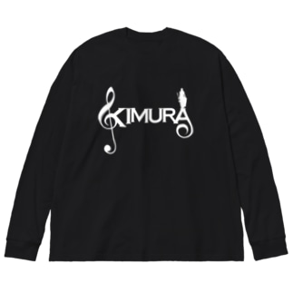 KIMURA グッズ Big silhouette long sleeve T-shirts