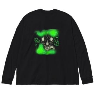 骨狼Green Big silhouette long sleeve T-shirts