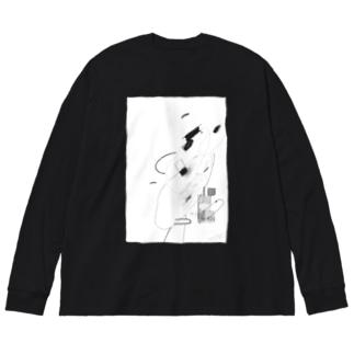 灯台 Big silhouette long sleeve T-shirts
