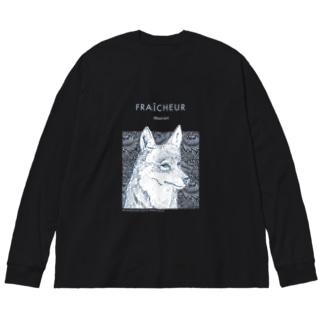 Wolf Big silhouette long sleeve T-shirts