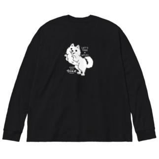 ポメラニアンお散歩WOW_B*M Big Long Sleeve T-shirt
