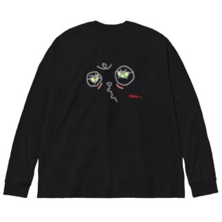 ねむみ Big Silhouette Long Sleeve T-Shirt