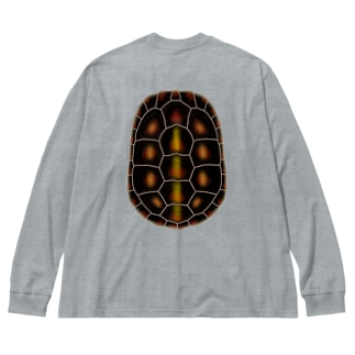 セマルハコガメ Big silhouette long sleeve T-shirts