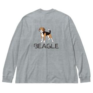 BEAGLEロゴ&イラスト Big silhouette long sleeve T-shirts