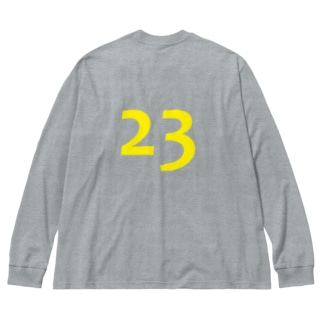 numbers・23 Big silhouette long sleeve T-shirts