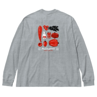 【エポッくん】エモと赤野菜 Big silhouette long sleeve T-shirts
