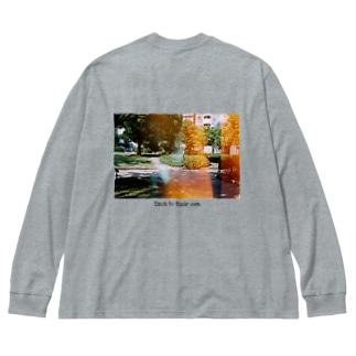 フィルム写真 Big silhouette long sleeve T-shirts