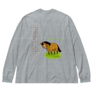5 Promises to My Horse Big silhouette long sleeve T-shirts
