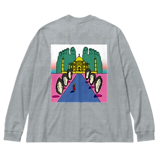 oyster Big silhouette long sleeve T-shirts