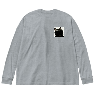 上から舞茸 Big silhouette long sleeve T-shirts