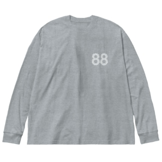88白ロゴ Big silhouette long sleeve T-shirts