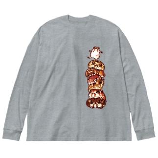 フクラガエル Big Silhouette Long Sleeve T-Shirt