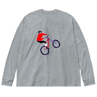 MTBデザイン「RIDE」 Big silhouette long sleeve T-shirts
