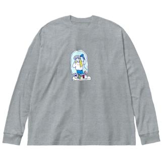 ドライヤータイム Big silhouette long sleeve T-shirts