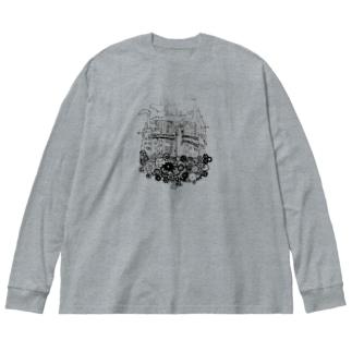 工場都市 Big silhouette long sleeve T-shirts