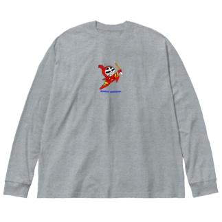 マスクド・レッド Big silhouette long sleeve T-shirts
