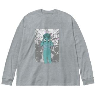 ALiEN Big silhouette long sleeve T-shirts