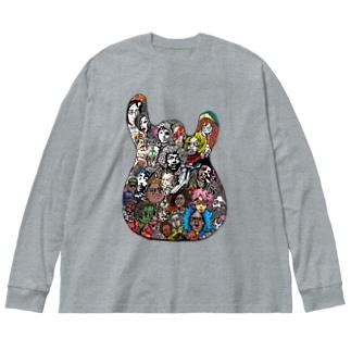 死んだスーパースターTシャツ Big silhouette long sleeve T-shirts