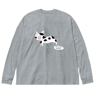 gogoteam54のGYUNYU🐮 Big silhouette long sleeve T-shirts
