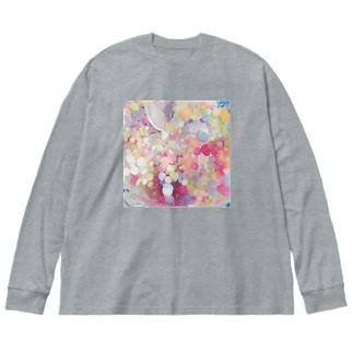 甘くて冷たい惑星 Big silhouette long sleeve T-shirts