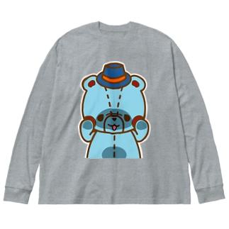 リムの「のぞき見」編 Big silhouette long sleeve T-shirts