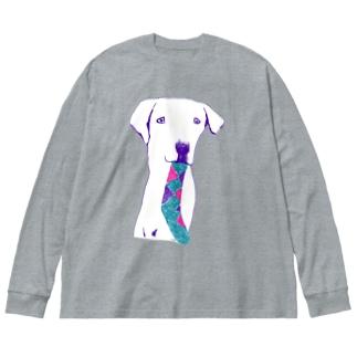 ラブラドール Big silhouette long sleeve T-shirts