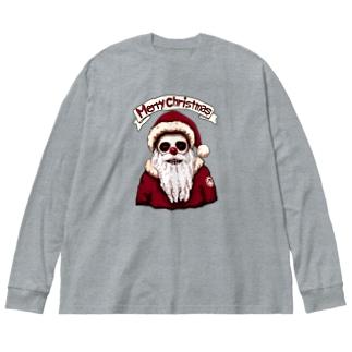 ホラーな夜 (クリスマス) Big silhouette long sleeve T-shirts