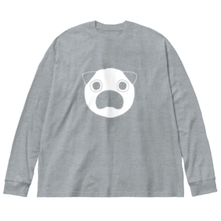 みつめるぷーやん Big silhouette long sleeve T-shirts