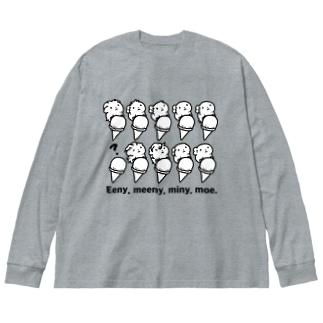 Eenie, meenie, miney, moe. Big silhouette long sleeve T-shirts