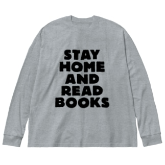 SAIWAI DESIGN STOREのSTAY HOME AND READ BOOKS Big silhouette long sleeve T-shirts