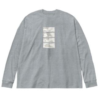 ポメとの暮らし Big silhouette long sleeve T-shirts