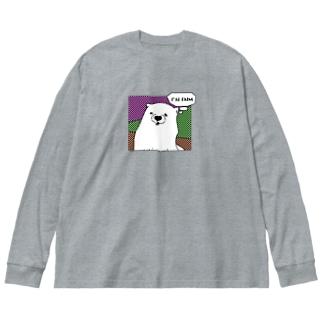 あの犬/空腹 Big silhouette long sleeve T-shirts