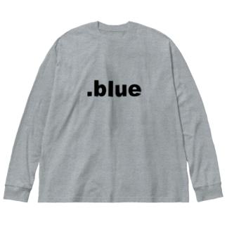 .blue Black Big silhouette long sleeve T-shirts