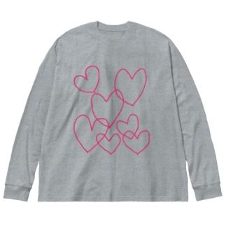 Heart Big silhouette long sleeve T-shirts