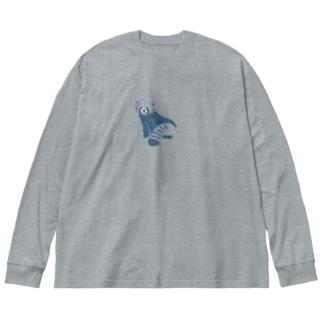 つかだ かおりのRed panda Big silhouette long sleeve T-shirts