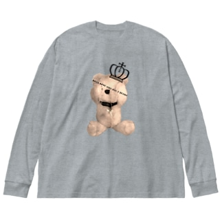 Royal Teddy  Sepia Big silhouette long sleeve T-shirts