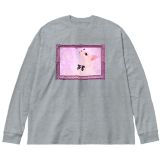 Actress Cat Big silhouette long sleeve T-shirts