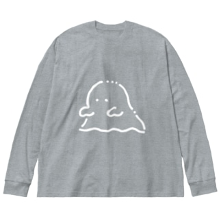 よしよしおばけ Big silhouette long sleeve T-shirts