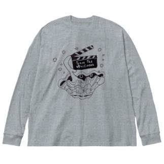 ゆいシネマ応援オリジナルグッズ Big silhouette long sleeve T-shirts