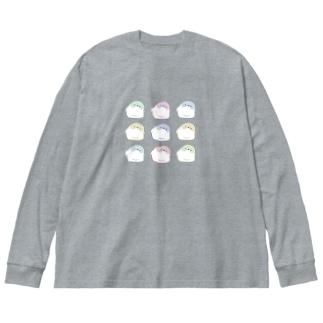 ヤセドリ Big silhouette long sleeve T-shirts