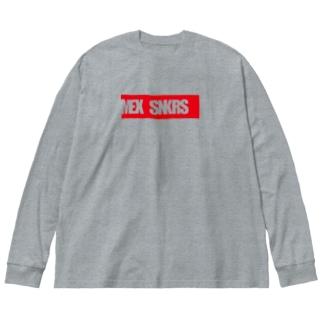 BOX  logo ロンT Big silhouette long sleeve T-shirts